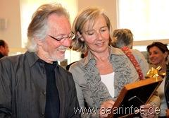 Klaus Voormann, der im Frühjahr 2011 im Museum Schloss Fellenberg ausstellen wird, weilte ebenfalls unter den Gästen 6563w