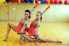 Die erfolgreichen Gymnastinnen Mira (l.) und Cathrin (r.)