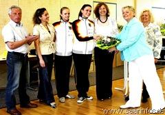 Ehrung der Gymnastinnen  Mira Bimperling und Cathrin Puhl