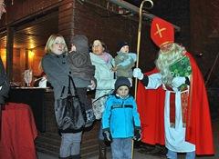 Natürlich besuchte der Nikolaus auch